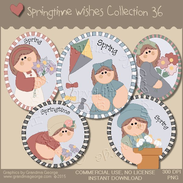 Country Springtime Wishes Graphics Collection Vol. 36