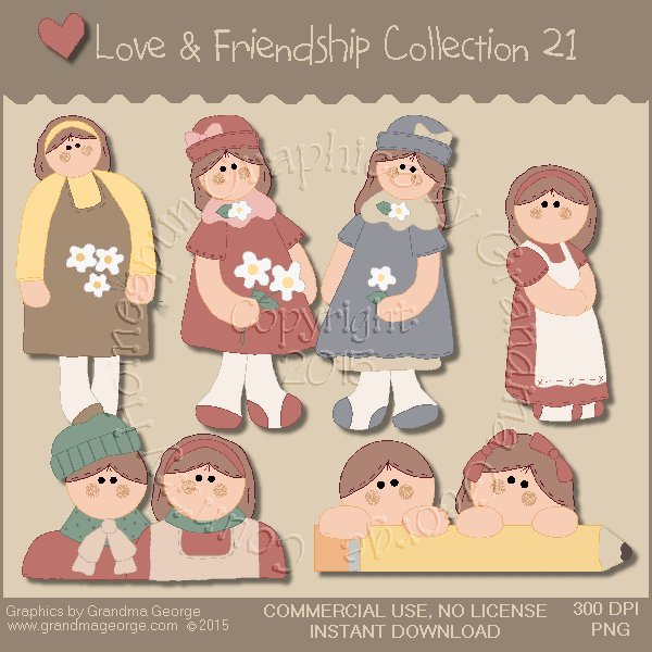 Love & Friendship Graphics Collection Vol. 21
