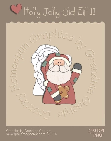 Holly Jolly Old Elf Single Country Graphic 11