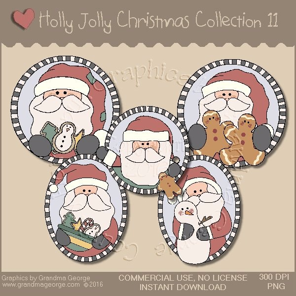 Holly Jolly Christmas Country Graphics Collection Vol. 11