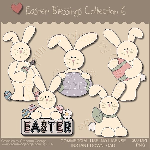 Easter Blessings Country Graphics Collection Vol. 6