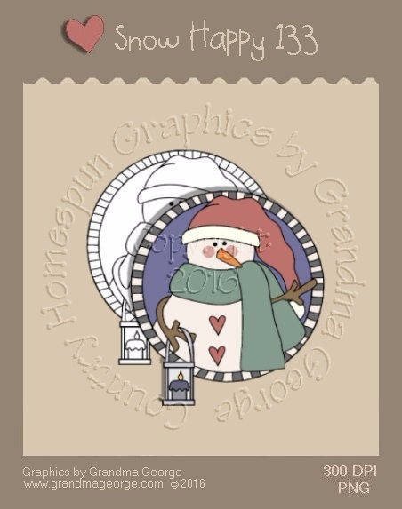 Snow Happy Single Country Graphic 133