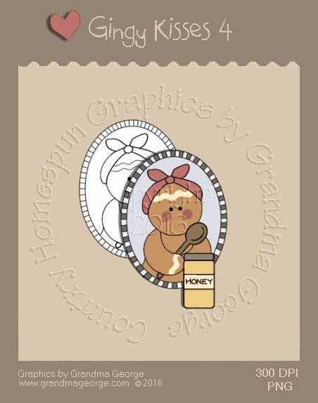 Gingy Kisses Single Country Graphic 4