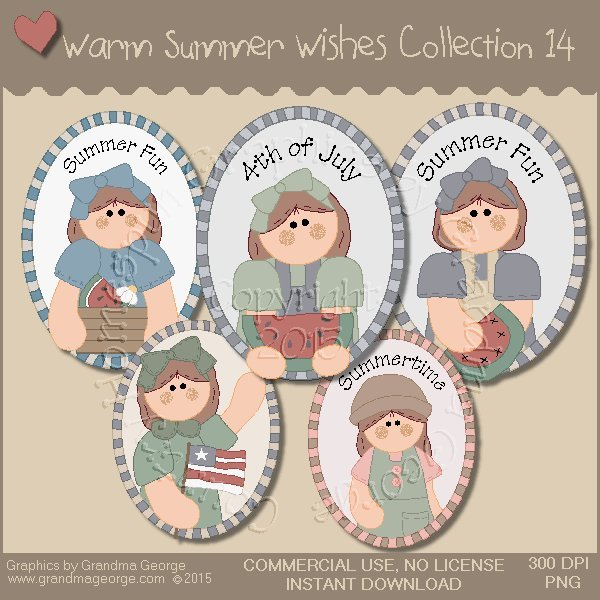 Warm Summer Wishes Graphics Collection Vol. 14