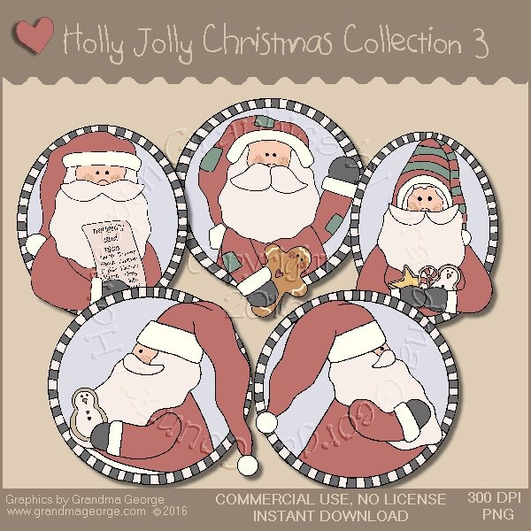 Holly Jolly Christmas Country Graphics Collection Vol. 3