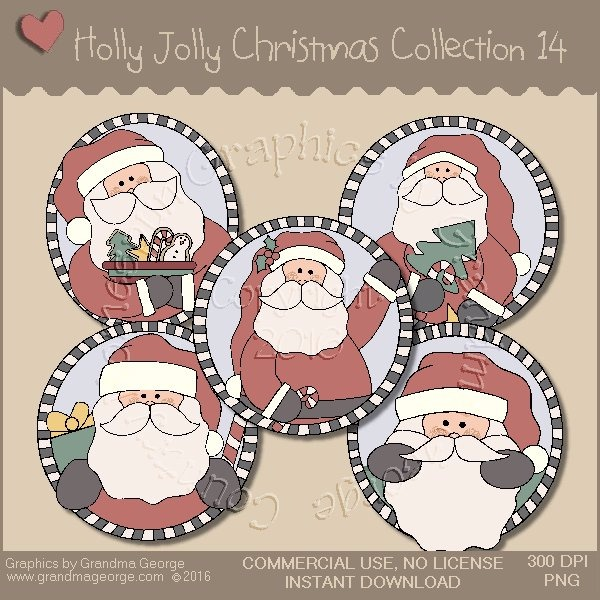 Holly Jolly Christmas Country Graphics Collection Vol. 14