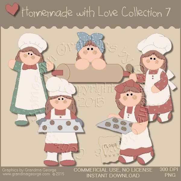 Homemade with Love Graphics Collection Vol. 7