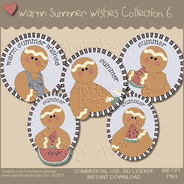 Warm Summer Wishes Graphics Collection Vol. 6