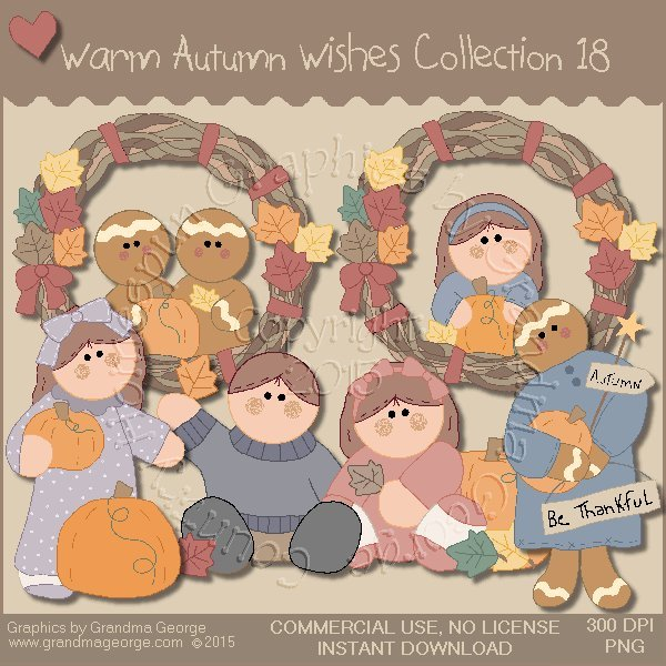 Warm Autumn Wishes Graphics Collection Vol. 18