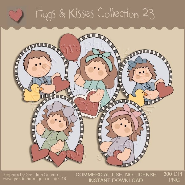 Hugs & Kisses Valentine Country Graphics Collection Vol. 23