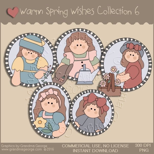 Warm Spring Wishes Country Graphics Collection Vol. 6