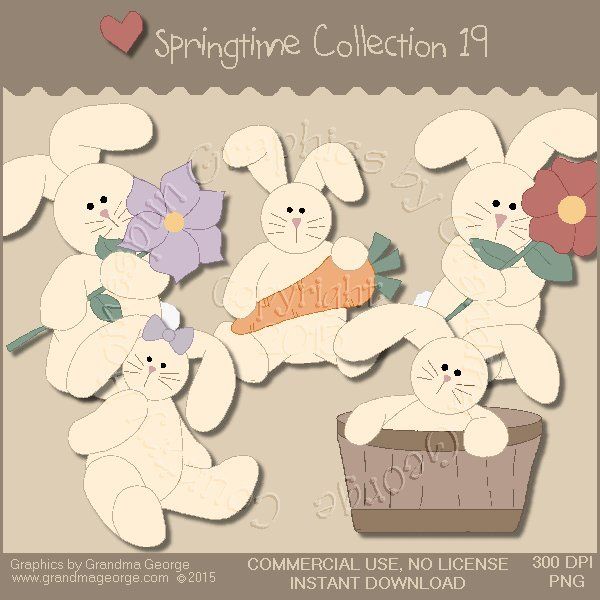 Country Springtime Graphics Collection Vol. 19