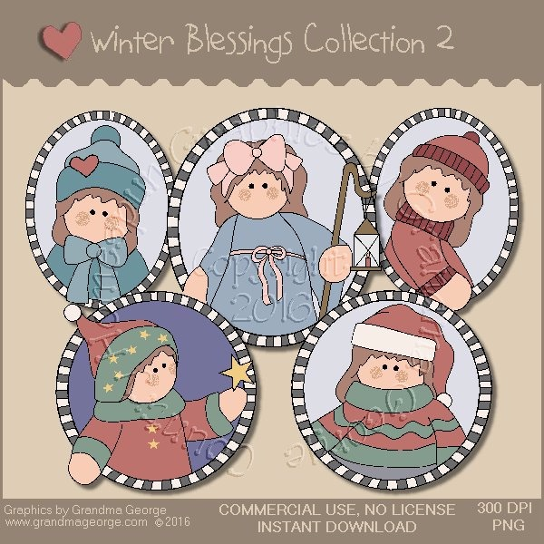 Winter Blessings Country Graphics Collection Vol. 2