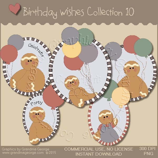 Birthday Wishes Country Graphics Collection Vol. 10