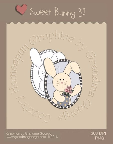 Sweet Bunny Single Country Graphic 31