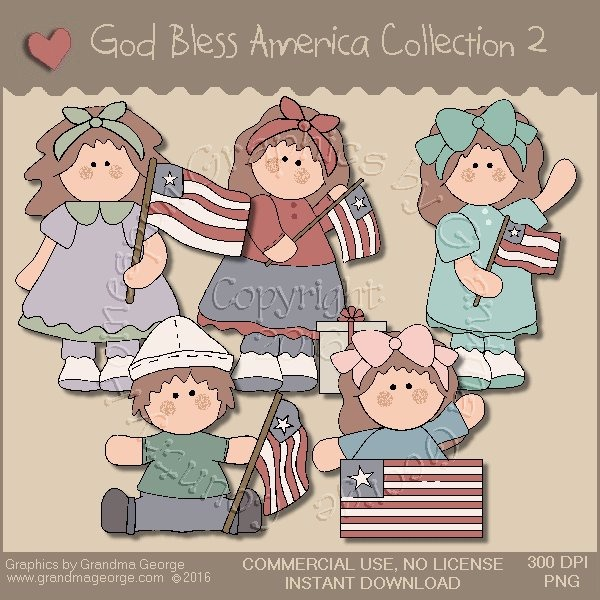 God Bless America Country Graphics Collection Vol. 2