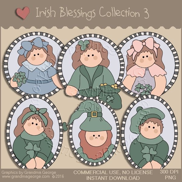 St. Patrick's Day Irish Blessings Country Graphics Collection Vol. 3