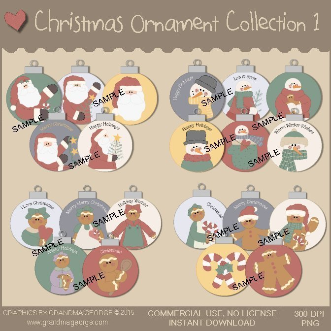 Christmas Ornament Collection Vol. 1