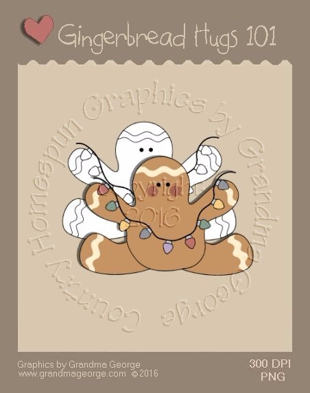 Gingerbread Hugs Single Country Graphic 101