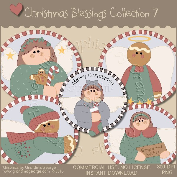 Christmas Blessings Graphics Collection Vol. 7