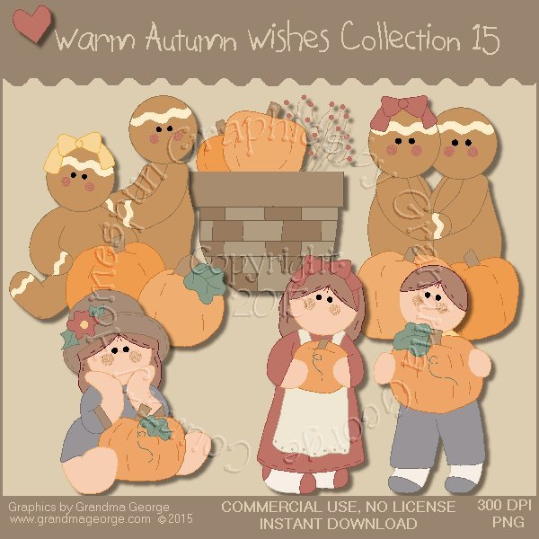 Warm Autumn Wishes Graphics Collection Vol. 15