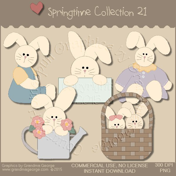 Country Springtime Graphics Collection Vol. 21