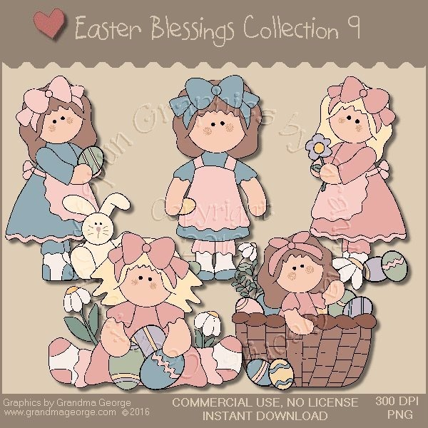 Easter Blessings Country Graphics Collection Vol. 9