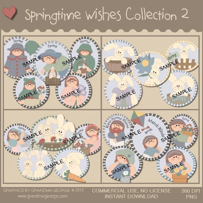Springtime Wishes Graphics Collection Vol. 2