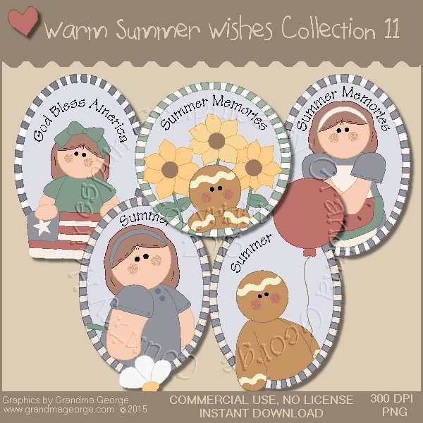 Warm Summer Wishes Graphics Collection Vol. 11