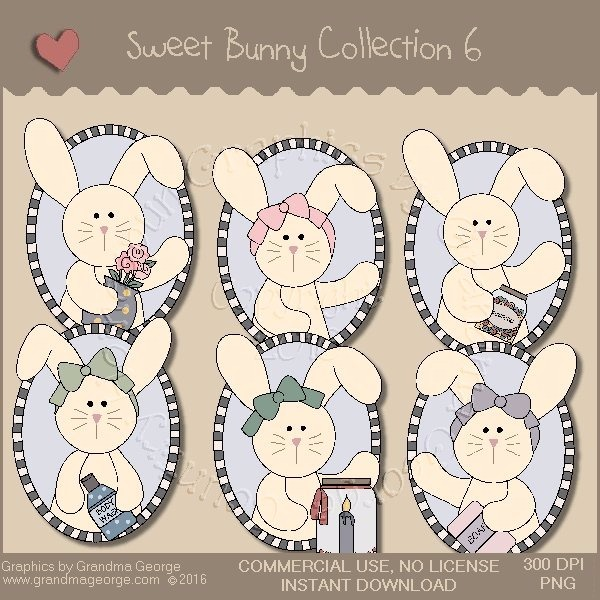 Sweet Bunny Country Graphics Collection Vol. 6