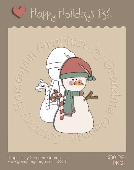 Happy Holidays Christmas Single Country Graphic 136