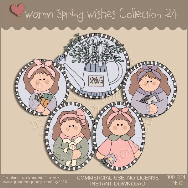 Warm Spring Wishes Country Graphics Collection Vol. 24