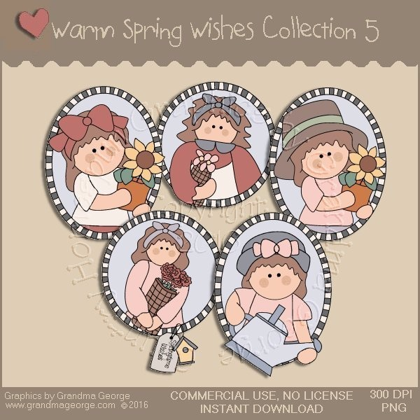 Warm Spring Wishes Country Graphics Collection Vol. 5