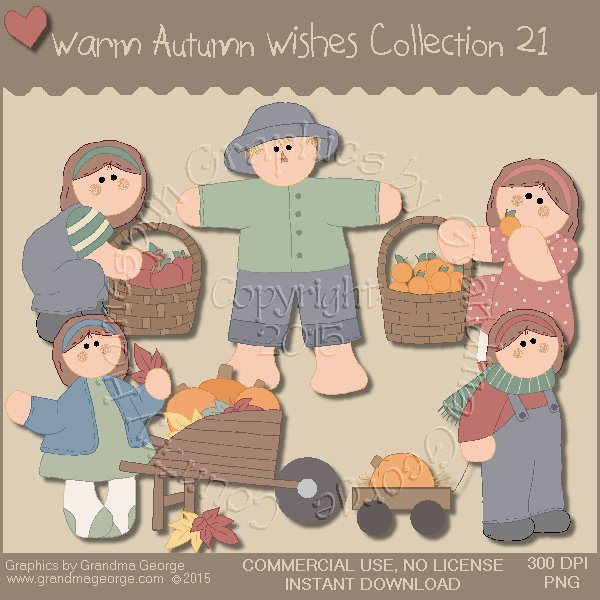 Warm Autumn Wishes Graphics Collection Vol.  21