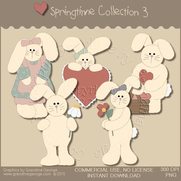 Country Springtime Graphics Collection Vol. 3
