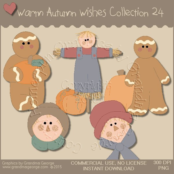 Warm Autumn Wishes Graphics Collection Vol. 24