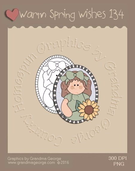 Warm Spring Wishes Single Country Graphic 134