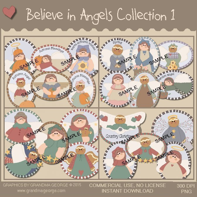 Believe in Angels Graphics Collection Vol. 1