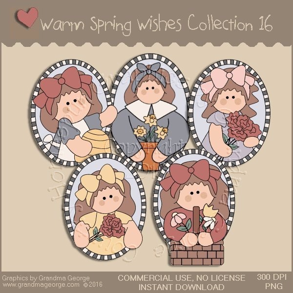 Warm Spring Wishes Country Graphics Collection Vol. 16