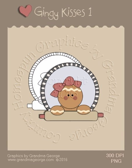 Gingy Kisses Single Country Graphic 1