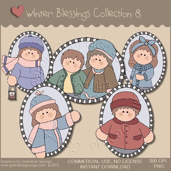 Winter Blessings Country Graphics Collection Vol. 8