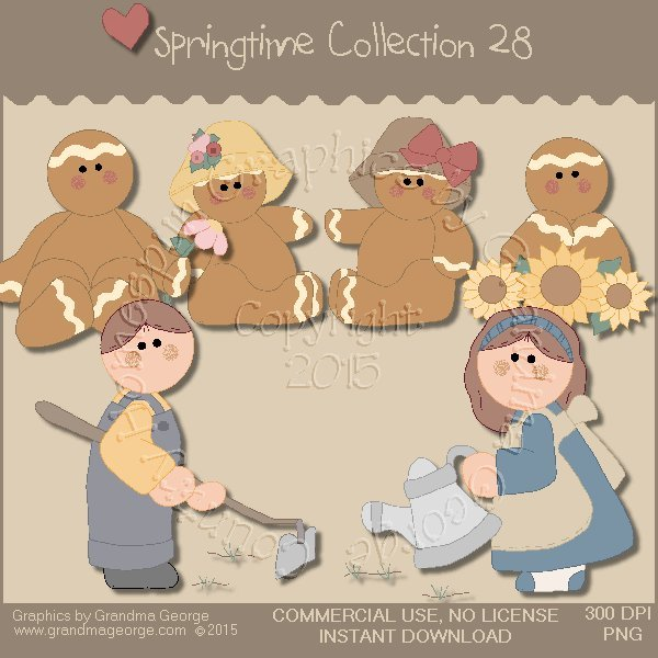 Country Springtime Graphics Collection Vol. 28