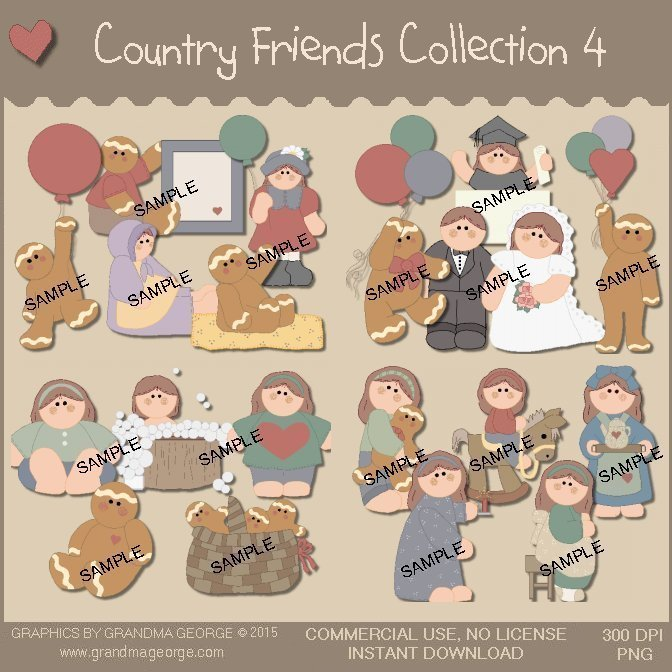 Country Friends Graphics Collection Vol. 4