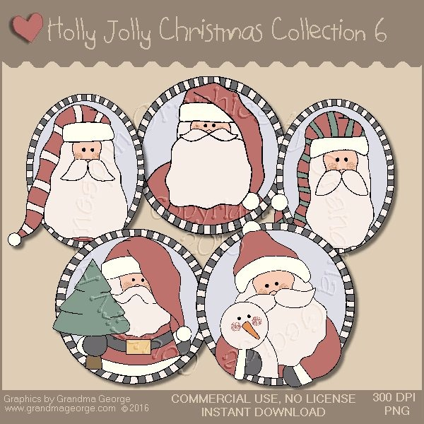 Holly Jolly Christmas Country Graphics Collection Vol. 6