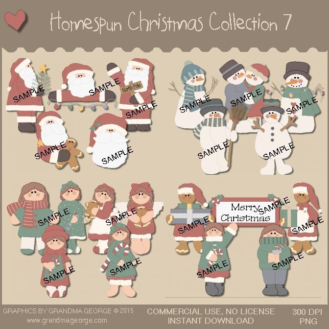 Homespun Christmas Collection Vol. 7