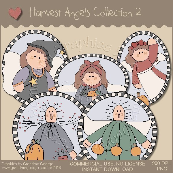 Harvest Angels Country Graphics Collection Vol. 2