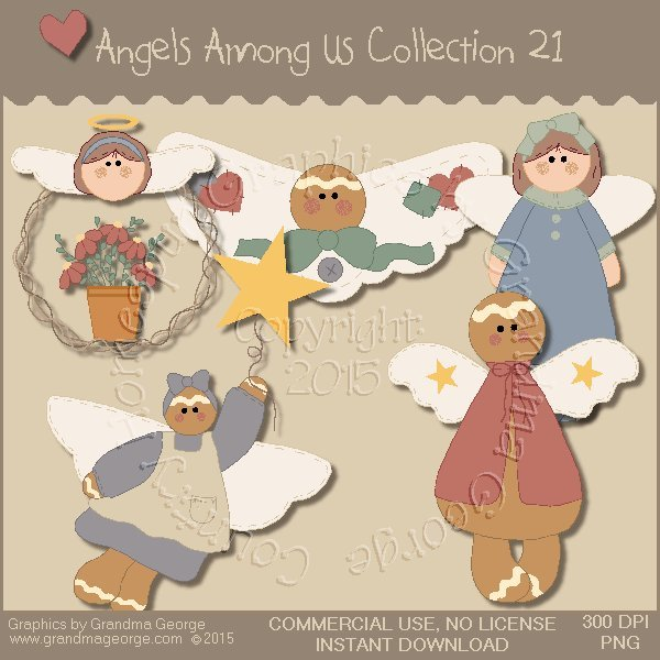 Angels Among Us Graphics Collection Vol. 21