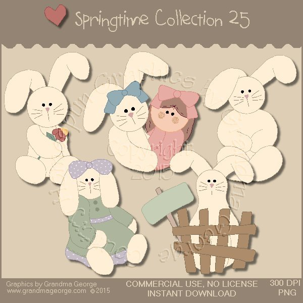 Country Springtime Graphics Collection Vol. 25