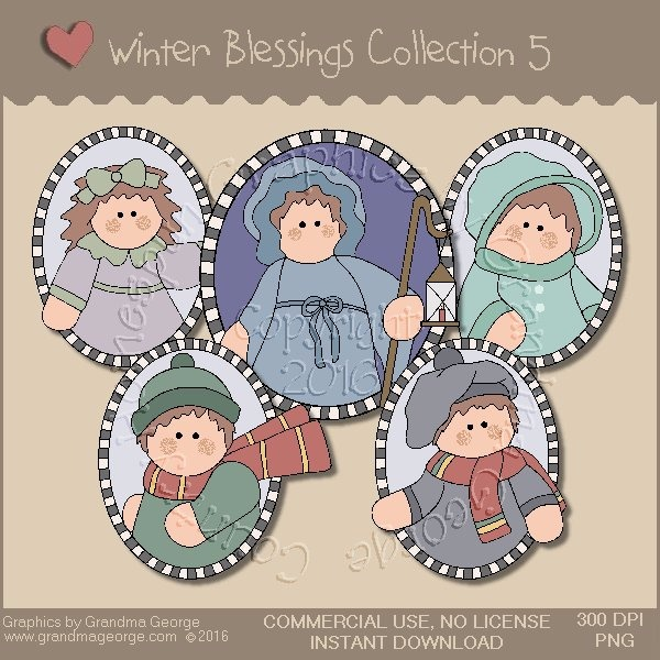 Winter Blessings Country Graphics Collection Vol. 5