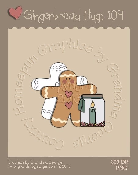 Gingerbread Hugs Single Country Graphic 109